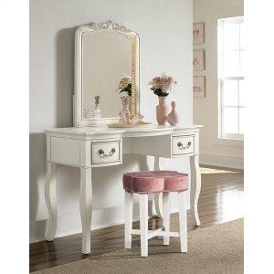 Hillsdale FurnitureClover Vanity Stool - Blush
