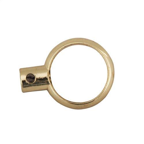 Ceiling Support Eyeloop - Polished Brass
