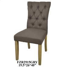 "19.5X24X39"" DINING CHAIR GRAY, 2 PCS KD PK/ 5.94'"