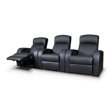 Cyrus Home Theater Black Recliner