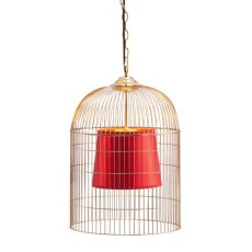 Sprite Ceiling Lamp Small Gold & Red Product Image