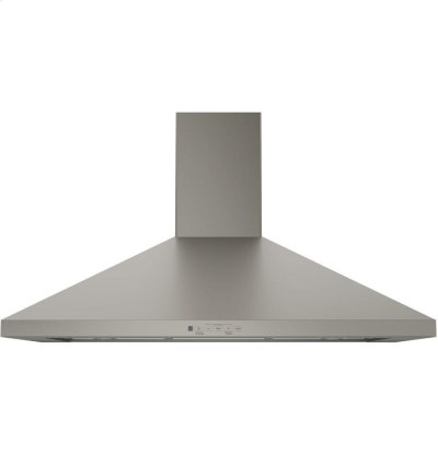 "GE® 36"" Wall-Mount Pyramid Chimney Hood Product Image"