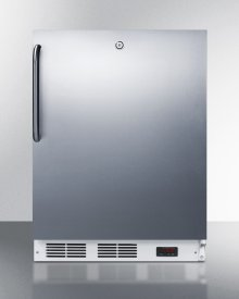 ADA Compliant Built-in Medical All-freezer Capable of -25 C Operation, With Lock, Stainless Steel Door, Towel Bar Handle, and White Cabinet