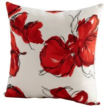 Crimson Petal Pillow
