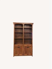 """Mission Oak 48"""" 2-Door Bookshelves"""
