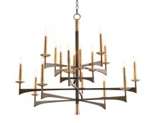 Mid-Century Sixteen-Light Chandelier