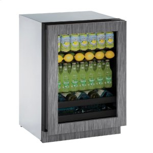 """U-Line Modular 3000 Series 24"""" Beverage Center With Integrated Frame Finish And Field Reversible Door Swing (115 Volts / 60 Hz)"""