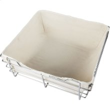 Canvas Basket Liner for POB1-161711 Basket. Features Hook and Loop fasteners for a Secure Fit. Machine Washable. Tan Canvas