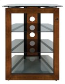 No Tools Assembly Solid Wood Front Frame A/V Tower Product Image