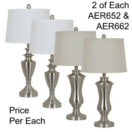 "27.5""TH METAL TABLE LAMP, 4 PCS ASSORTED PK/ 3.06'"