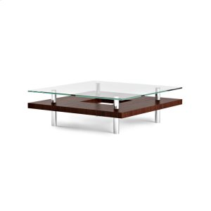 Bdi FurnitureSquare Coffee Table 2300 in Chocolate Stained Walnut