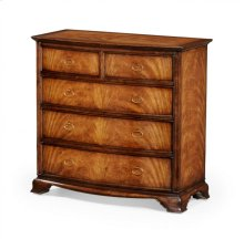 Crotch Walnut Bedside Chest of Drawers