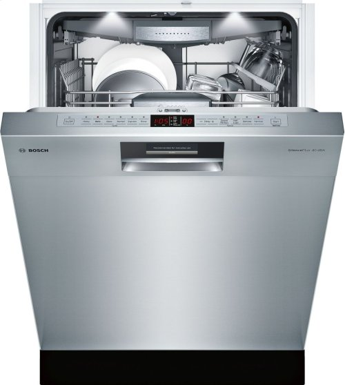 """24"""" Recessed Handle Dishwasher SHE8PT55UC Benchmark Series- Stainless steel"""