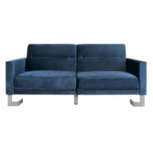 Tribeca Foldable Sofa Bed - Navy / Silver