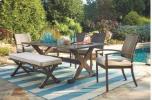 Moresdale - Brown 4 Piece Patio Set