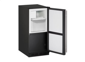 "1000 Series 15"" Crescent Ice Maker With Stainless Solid Finish and Field Reversible Door Swing"