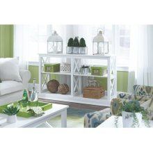 Long Sofa Table in Pure White