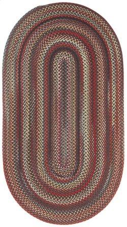 Americana Black Braided Rugs (Custom)