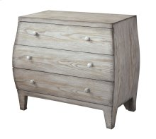 Plymouth 3 Drawer Light Driftwood Curved Chest