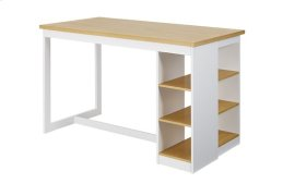 Counter Storage Table - Oak/White Finish