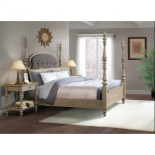 Corinne - King/california King Upholstered Poster Headboard - Sun-drenched Acacia Finish