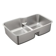 1800 Series 31-57/64x20-11/16 stainless steel 18 gauge double bowl sink