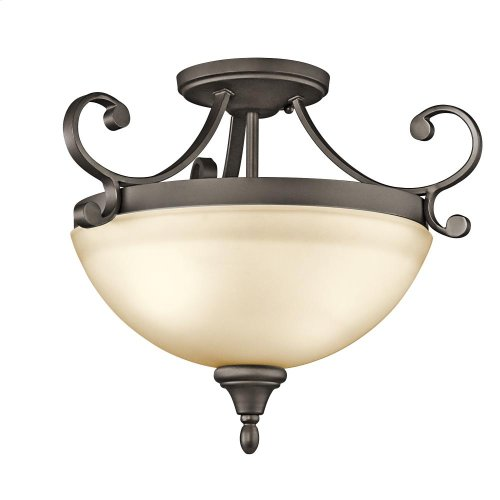 Monroe Collection Monroe 2 Light Semi Flush OZ