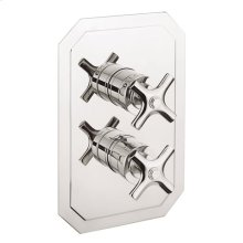 Waldorf 2500 Thermostatic Valve Trim with Integrated Volume Control/Three-way Diverter and Cross Handles - Polished Chrome