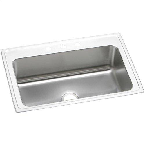 """Elkay Lustertone Classic Stainless Steel 33"""" x 22"""" x 10-1/8"""", Single Bowl Drop-in Sink"""