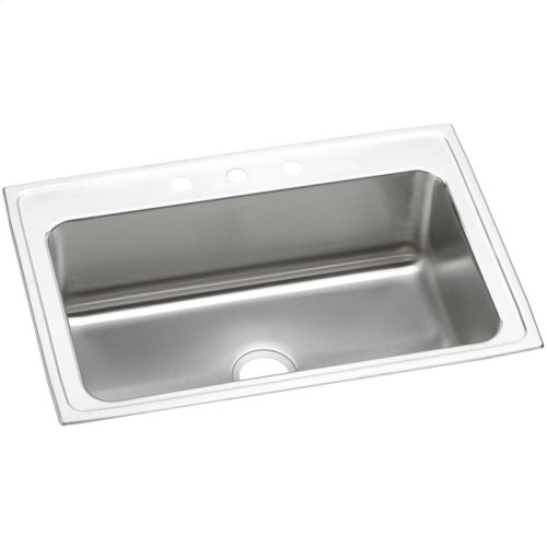 "Elkay Lustertone Classic Stainless Steel 33"" x 22"" x 10-1/8"", Single Bowl Drop-in Sink"