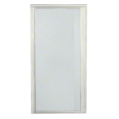 "Vista Pivot™ II Shower Door - Height 65-1/2"", Max. Opening 36"" - Nickel with Pebbled Glass Texture"