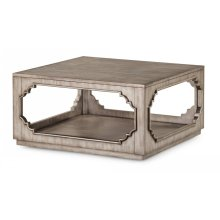 Vogue Square Cocktail Table with Casters