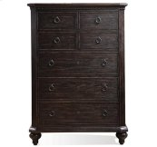 Bellagio Five Drawer Chest Weathered Worn Black finish