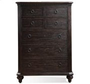 Bellagio Five Drawer Chest Weathered Worn Black finish Product Image