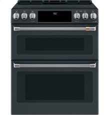 """Café 30"""" Slide-In Front Control Induction and Convection Double Oven Range"""