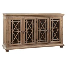 Lattice Front Entertainment Console