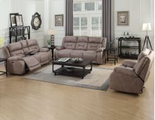 "Aria Pwr-Pwr Recliner Console Loveseat,Desert Sand,77""x43""x43"