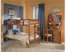 Heartland 2 x 4 Bunk Bed with options: Honey Pine, Twin over Twin, 2 Drawer Storage Product Image