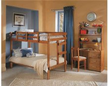 Heartland 2 x 4 Bunk Bed with options: Honey Pine, Twin over Twin, 2 Drawer Storage