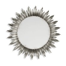 Large Silver Sunburst Mirror