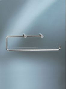 Double toilet roll holder or kitchen roll holder without back plate - Grey