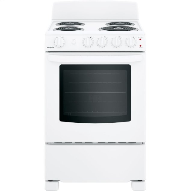 """Hotpoint Hotpoint® 24"""" Electric Free-Standing Front-Control Range"""