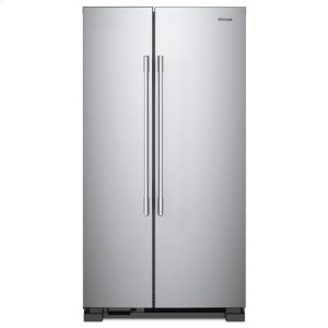 WhirlpoolWhirlpool® 36-inch Wide Side-by-Side Refrigerator - 25 cu. ft. - Fingerprint Resistant Stainless Steel
