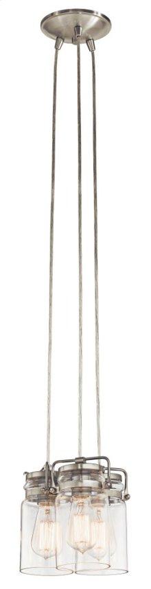 Brinley 3 Light Pendant Brushed Nickel