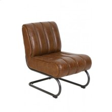 Chair 58x80,5x76,5 cm RUSSEL leather brown