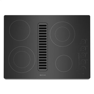 """Jenn-AirJenn-Air® Electric Radiant Downdraft Cooktop with Electronic Touch Control, 30"""" - Black"""