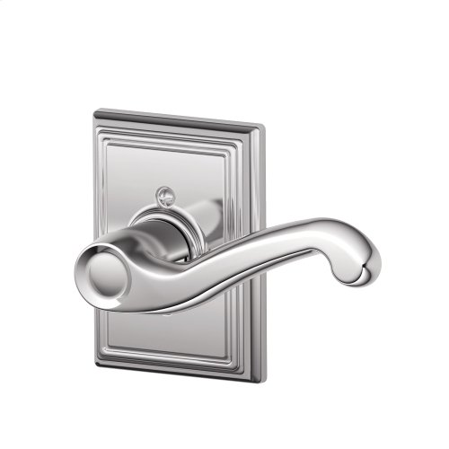 Flair Lever with Addison Trim Non-Turning Lock - Bright Chrome