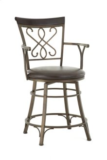 "Carmona Swivel Bar Chair, 19""x17""x48"""