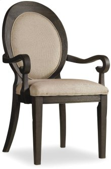 Corsica Dark Oval Back Arm Chair