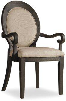 Corsica Dark Oval Back Arm Chair